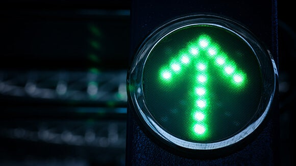 Green traffic light arrow